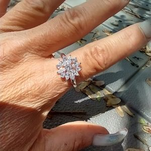 Women's marked 925 crystal ring size 10